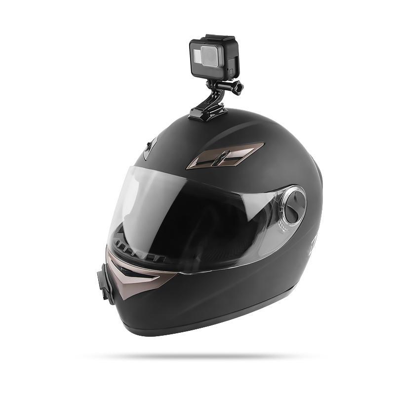 Casco de motocicleta de la base de montaje de cámara soporte conjunto barbilla para GOPRO Hero 6