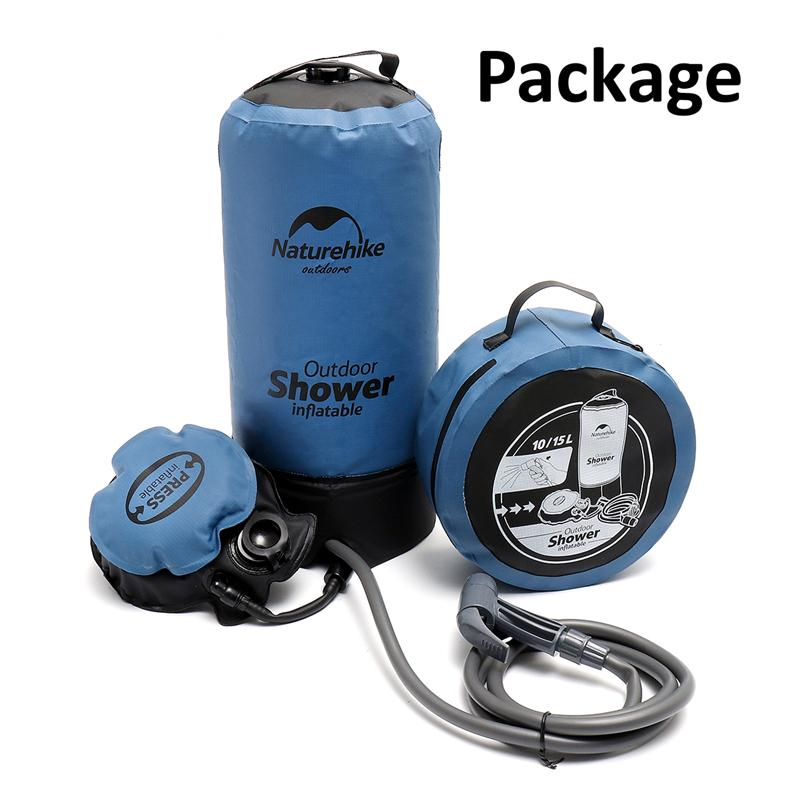 Outdoor Portable Pressure Water Bag Shower Inflatable Large Water Area Hydration