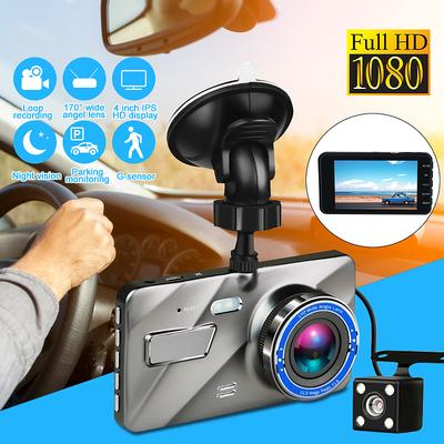 Car DVR Video Recorder 1080P 2-Len HD Car Record Cam Dash Auto Vehicle  G-Sensor Night Vision