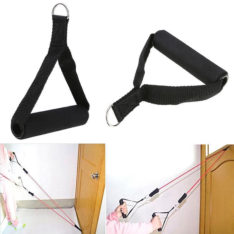 Tricep Rope Cable Gym Attachment Handle Bar Dip Station Resistance ExerciseSBVO