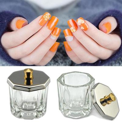 1pcs Crystal Glass Nail Art Acrylic Dappen Dish Bowl Cup Liquid