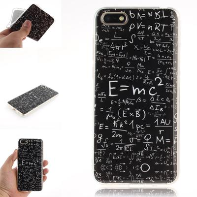 Mathematical Formula Painted Pattern Soft TPU Silicone Shockproof Anti-Drop Phone Case for Wiko LG