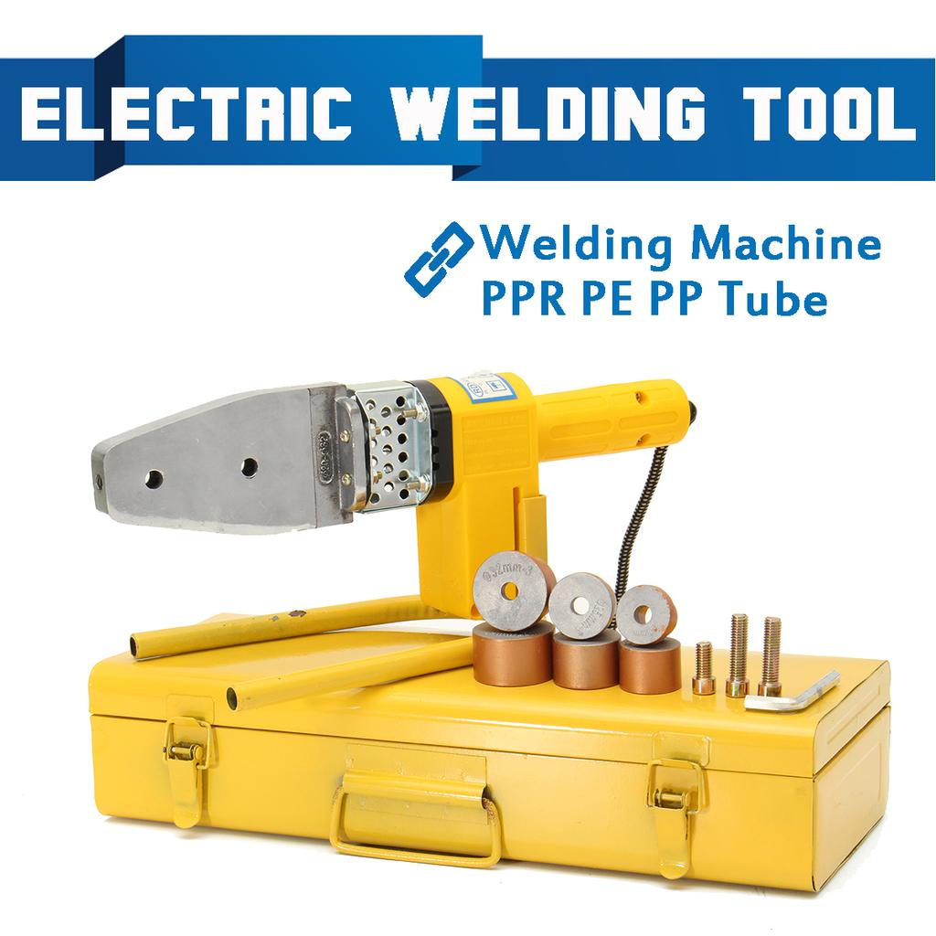 Heads Kits with Box 220V 600W Full Automatic Electric Temperature Controlled Heating PPR PE PP Tube Pipe Welding Machine