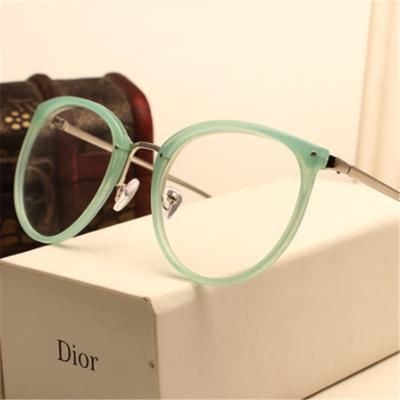 Moda miopía gafas Marcos gafas Metal claro gafas lentes mujer ...