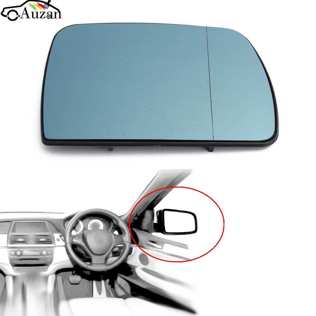 RIGHT 2pcs HEATED Wing Wide Angle Door Mirror Glass for BMW X5 E53 99-06 LEFT