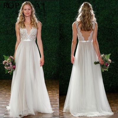 c85ad388b2 Letnia sukienka seksowna koronkowa sukienka i wydrążona sukienka z  kantarowym paskiem wiatru głęboka sukienka V
