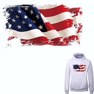 American Flag Patches A-level Washable Heat Transfer Iron On Patches DIY Accessory Print On Clothes