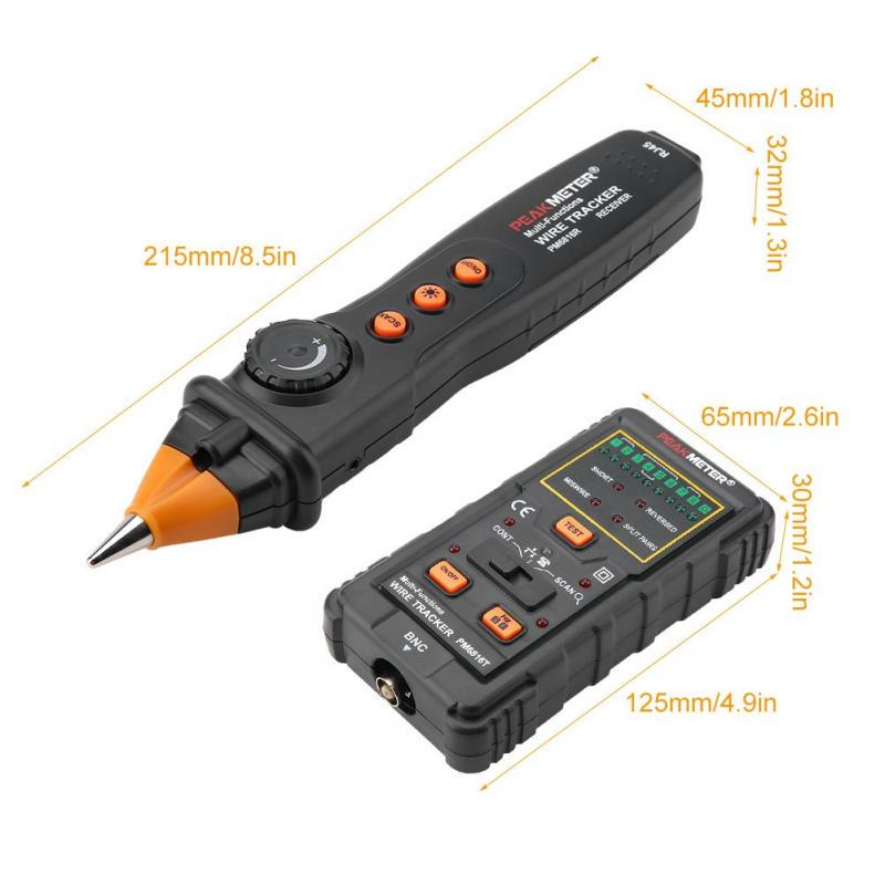 Cable Tracker,PM6816 Multifunctional Network Cable Wire Tracker Line Finder RJ45 RJ11