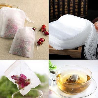 50Pcs / Set of Heat-sealing Filter Paper Herbal White Empty Tea Bag