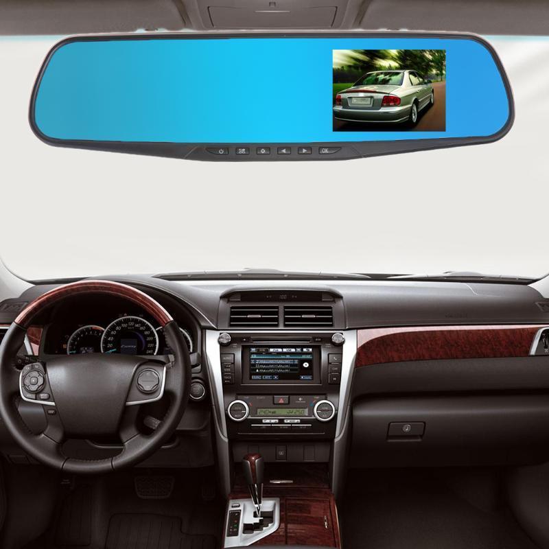 720P автомобиль DVR камеры тире Cam с зеркало заднего вида цифровой видео рекордер ночь – купить по низким ценам в интернет-магазине Joom