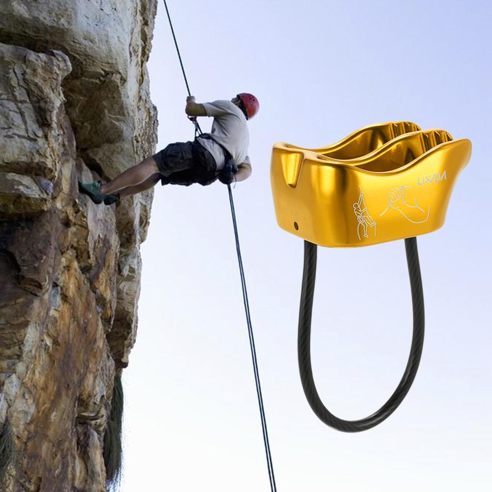 Safety Rock Tree Climbing Abseiling Aluminum Rope Grab Protecta /& Carabiner