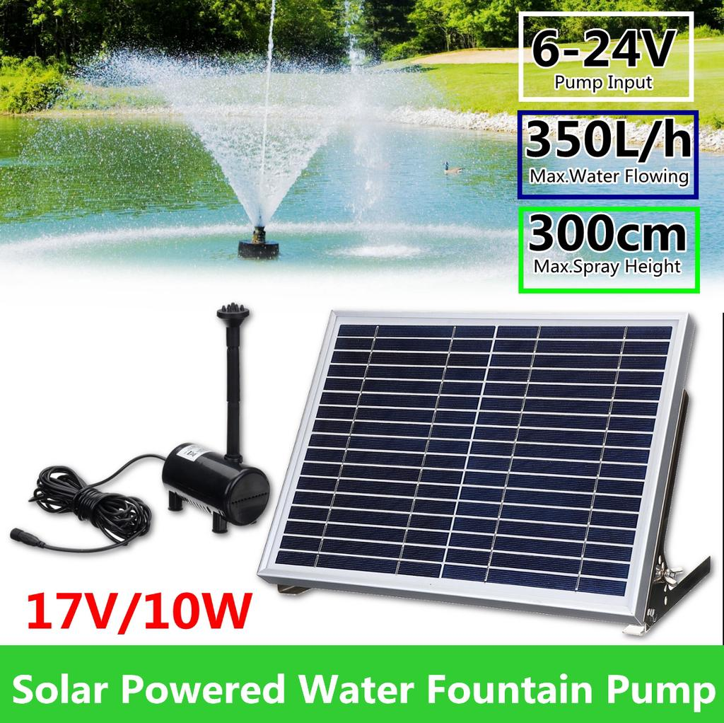 10w 17v 100 350l H Solar Panel Powered Brushless Water Fountain Pump For Pond Garden Outdoor Buy At A Low Prices On Joom E Commerce Platform
