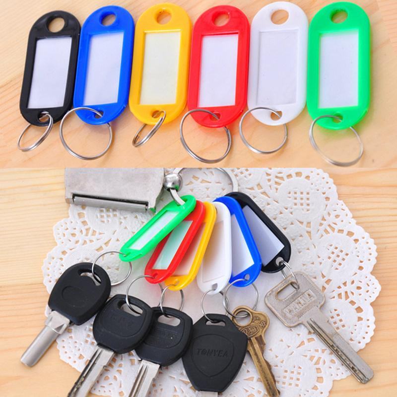 Color Mixing Travel Luggage Bag Tag Plastic Suitcase Baggage Key Ring ID Label