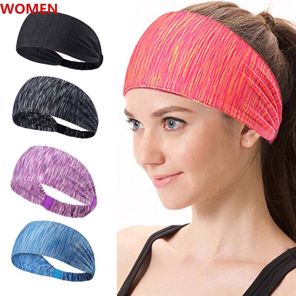 New Cotton Women Wide Sports Yoga Nonslip Headbands Stretch Head Wrap Hairbands