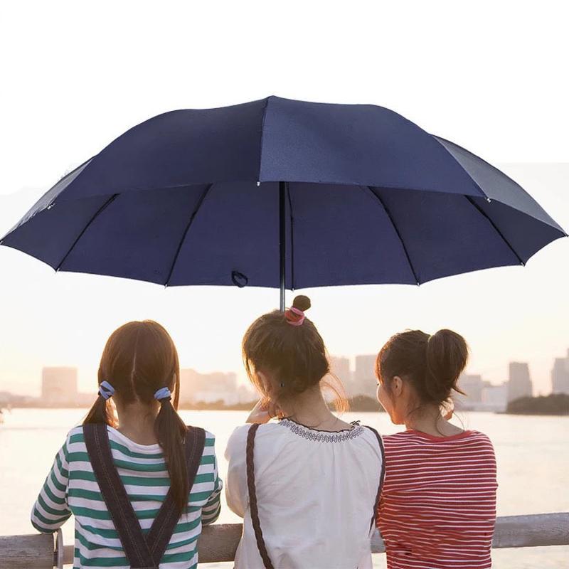 2pcs Extra Large UV Sun Protection Strong Rain Umbrellas Parasol Men Women