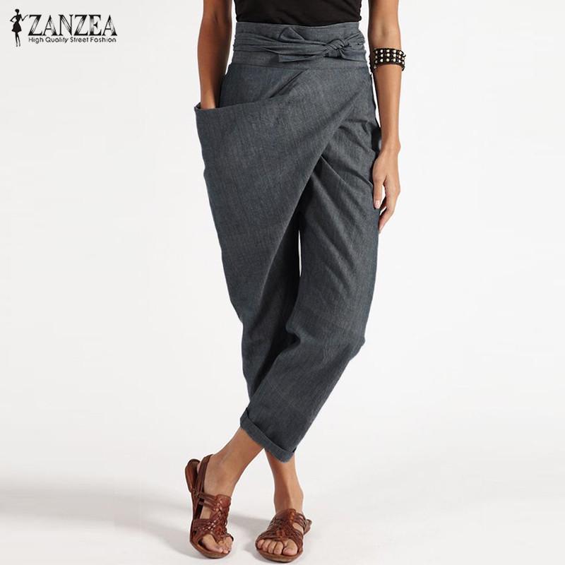 Женские короткие брюки из полиэстера с большим карманом на запах фото