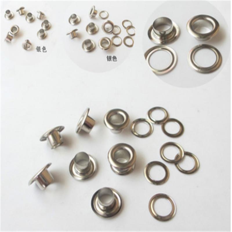 100pcs Iron Grommet Eyelets Washers Sewing DIY Clothing Bags Belt Leathercrafts