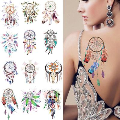 New Waterproof Makeup Tool Temporary Body Art Dream Catcher Feather Leaf 3d Tattoos Stickers Buy At A Low Prices On Joom E Commerce Platform