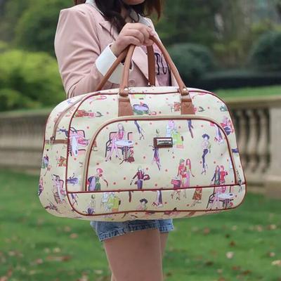 dd98459edf Femmes sacs PU cuir grande capacité bagages impression étanche sac de voyage