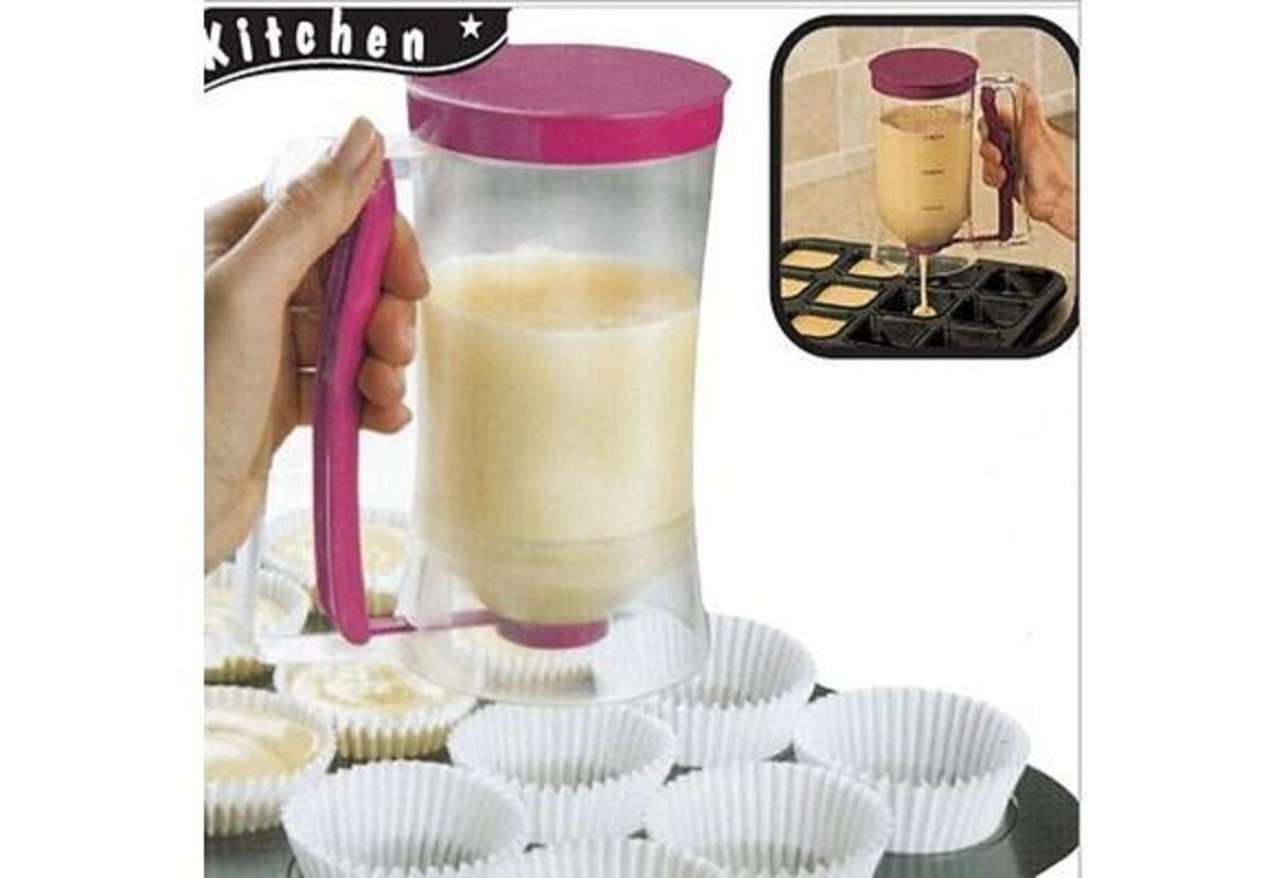 900ML PANCAKES MUFFIN蛋糕点心士塑胶实用CAKE厨具厨房配件面糊饮水机烘焙工具HOME DECOR