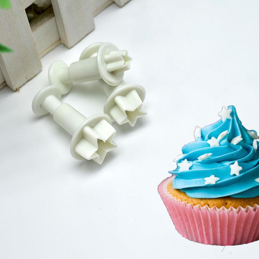 8 pcs Star coeur gâteau Fondant Sugarcraft Cutter piston Cookies décoration outil