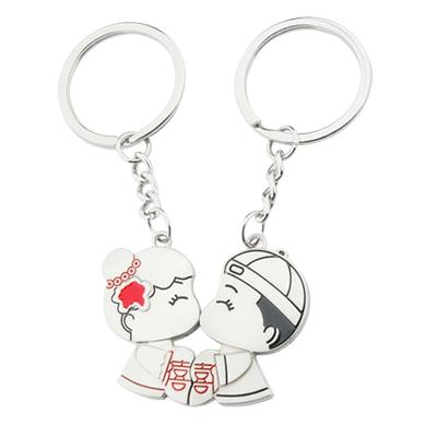 No1parts Cute Unique Couple Bag Keyring Lovers Keychain for Lovers