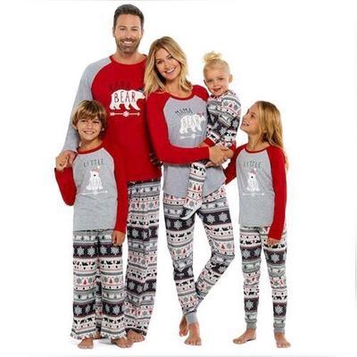 7a881e3404 Xmas Fairy Christmas Family Pajamas Set Adult Women Kids Sleepwear Nightwear