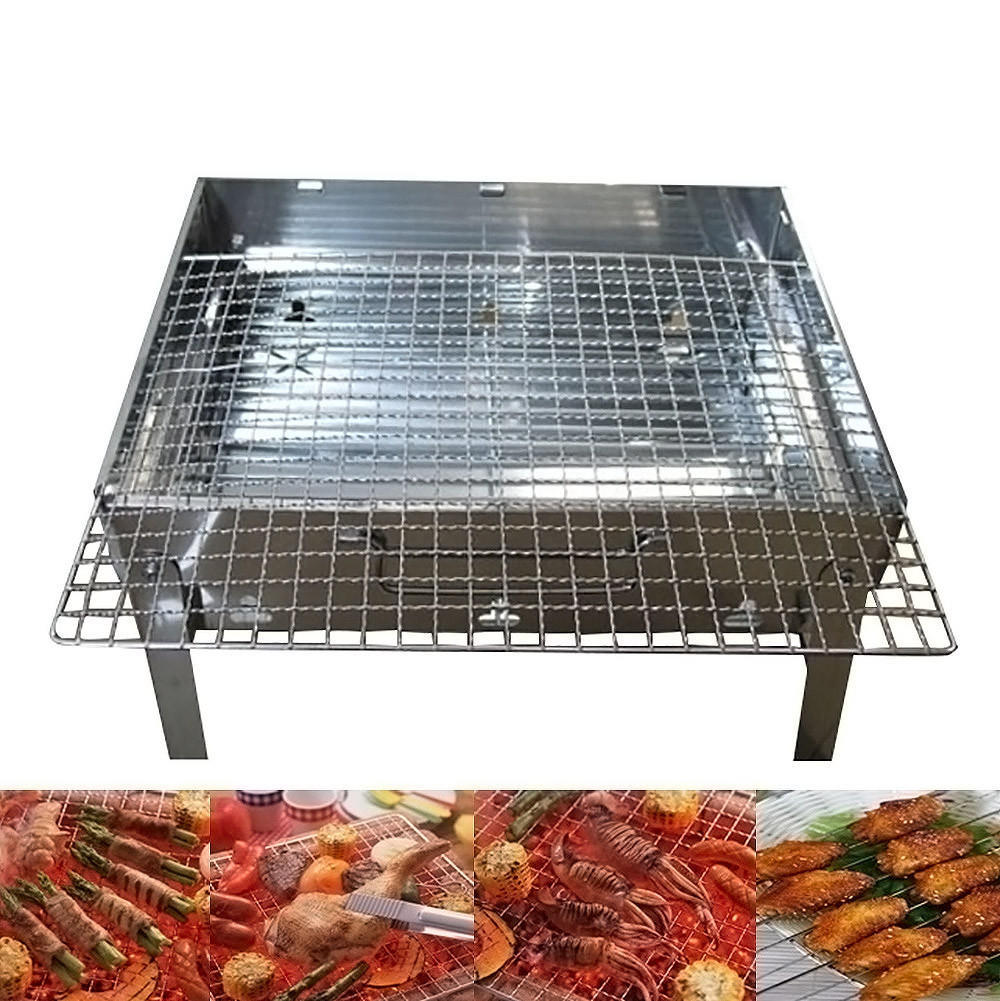 BBQ Barbecue Mesh Net Grid Basket Outdoor Cooking Roast Tool Grilling Useful