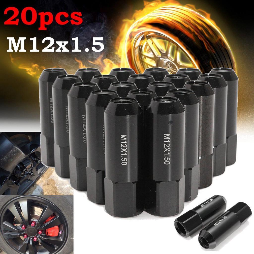 20pcs Blue Wheel Lug Nuts tuner M12x1.25 60mm for NISSAN SUBARU INFINITI SUZUKI