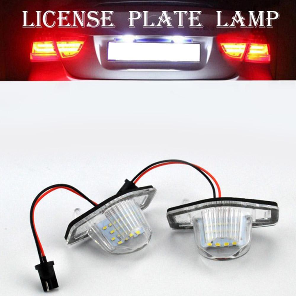 2 Honda LED Licence Number Plate Light Fit Jazz CRV FRV Stream Odyssey Crosstour