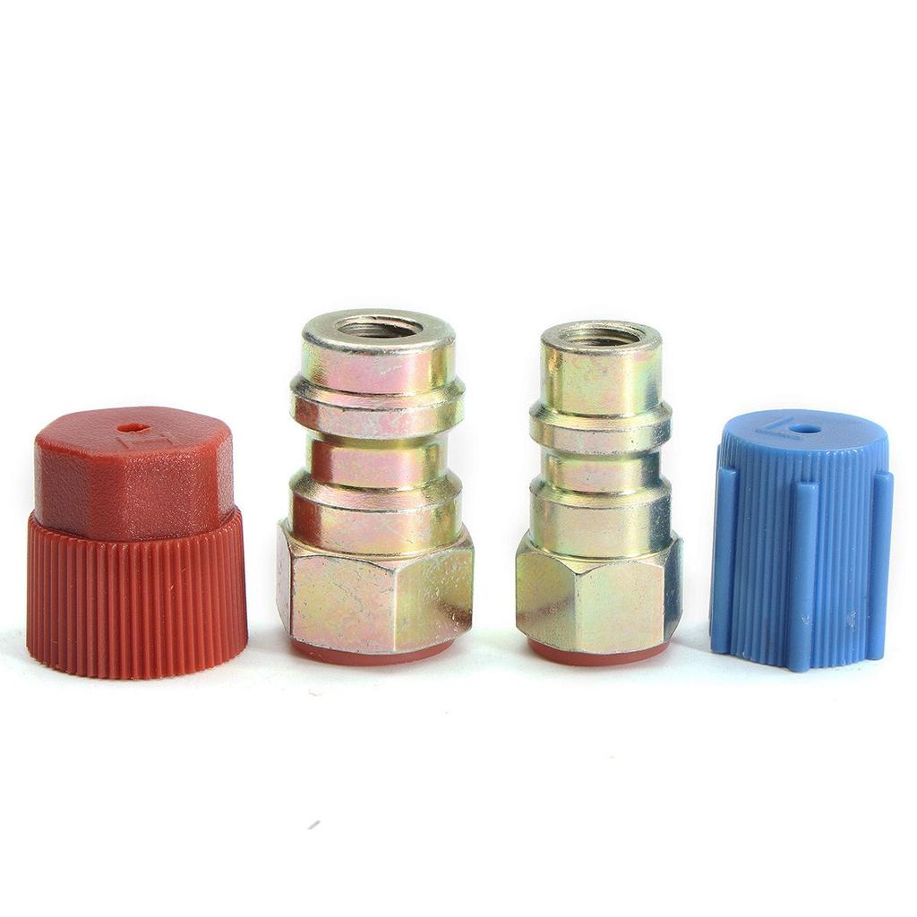 """High Side 3//16/"""" R-12 to R-134A Steel Conversion Fittings 1 1 Low Side 1//4/"""""""