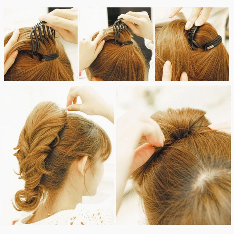 Portable Useful Inserts Hair Clip Bun Bouffant Volume Comb Wedding Fluffy H J7B3