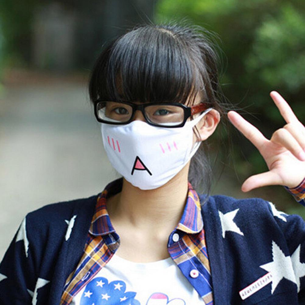 1Pcs cute anime emotiction mouth-muffle anti-dust kawaii face mask cotton ZX VBU