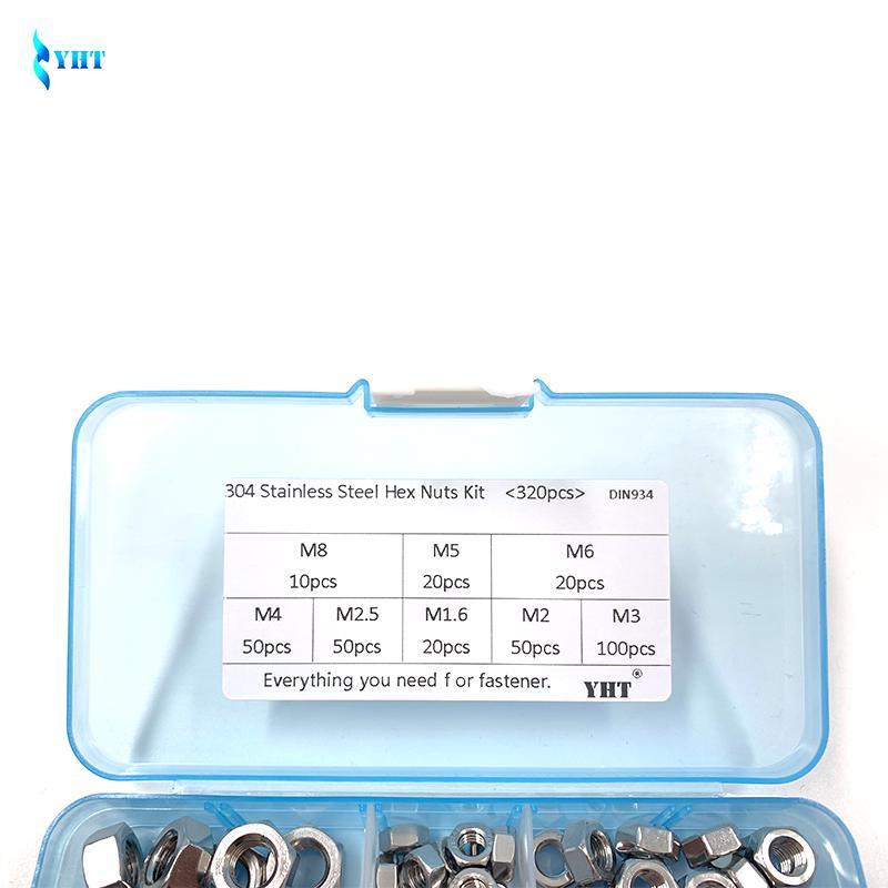M5 100pcs 304 Stainless Steel Nuts M1.6 M2 M2.5 M3 M4 M5 M6