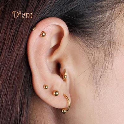2 x Piercing Jewelry Tragus Earrings Cartilage Helix Heart Shape Ear Studs