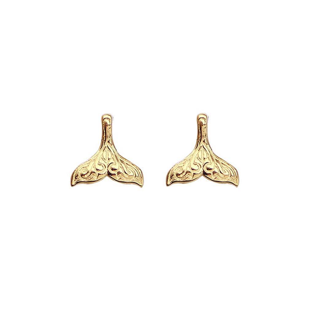 Queue de Sirène Argent Boucles d/'oreilles les femmes fashion Pendentifs Bijoux Handmade Ear Stud