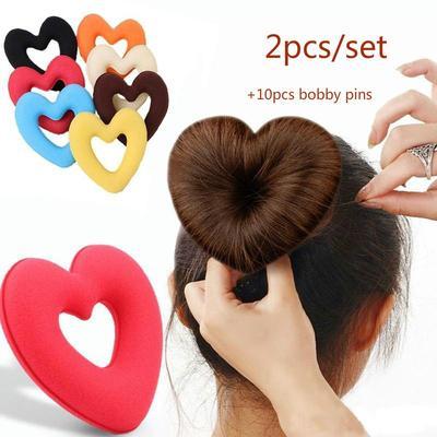 Women Girls Essential Sponge Foam Donut Bun Updo Hair Styling Tool Top Quality