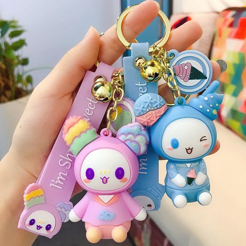 Doll Fashion Keychain Keyring Handbag Pendant