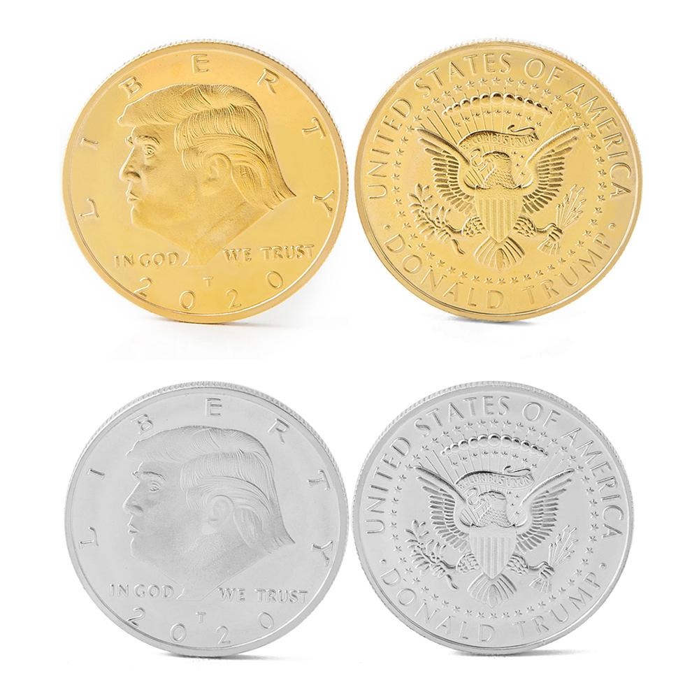 Gold Edition Donald Trump Presidential 3D Challenge Coin