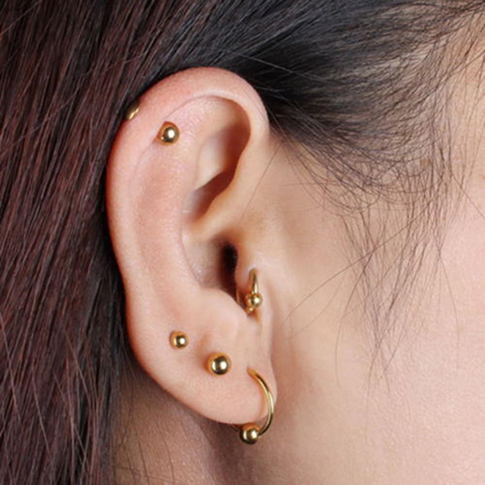 5 Styles 5 Paires de Boucles dOreilles Cartilage en Acier Inoxydable Boucles dOreille H/élix de Barbell Tragus Cartilage pour Femmes et Filles