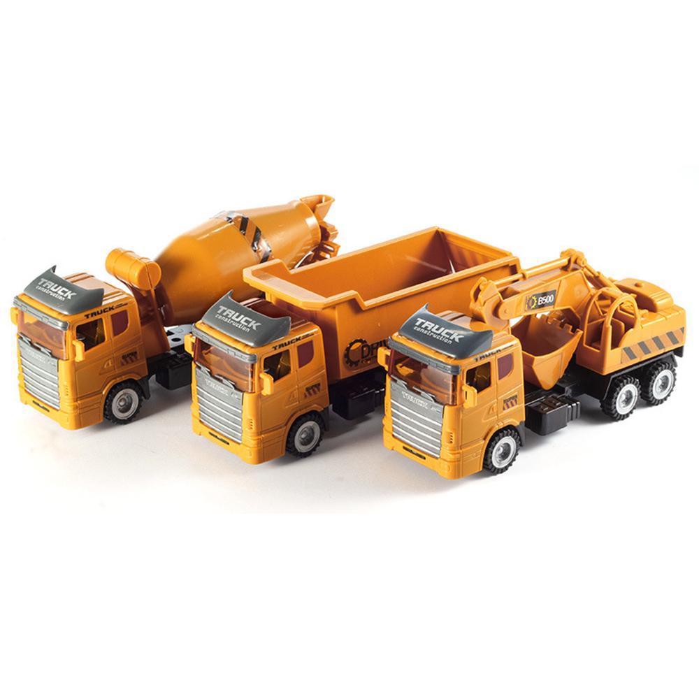 1:16 Diecast Model Inertia Truck Engineering Vehicle Car Set Kids Gift Toys