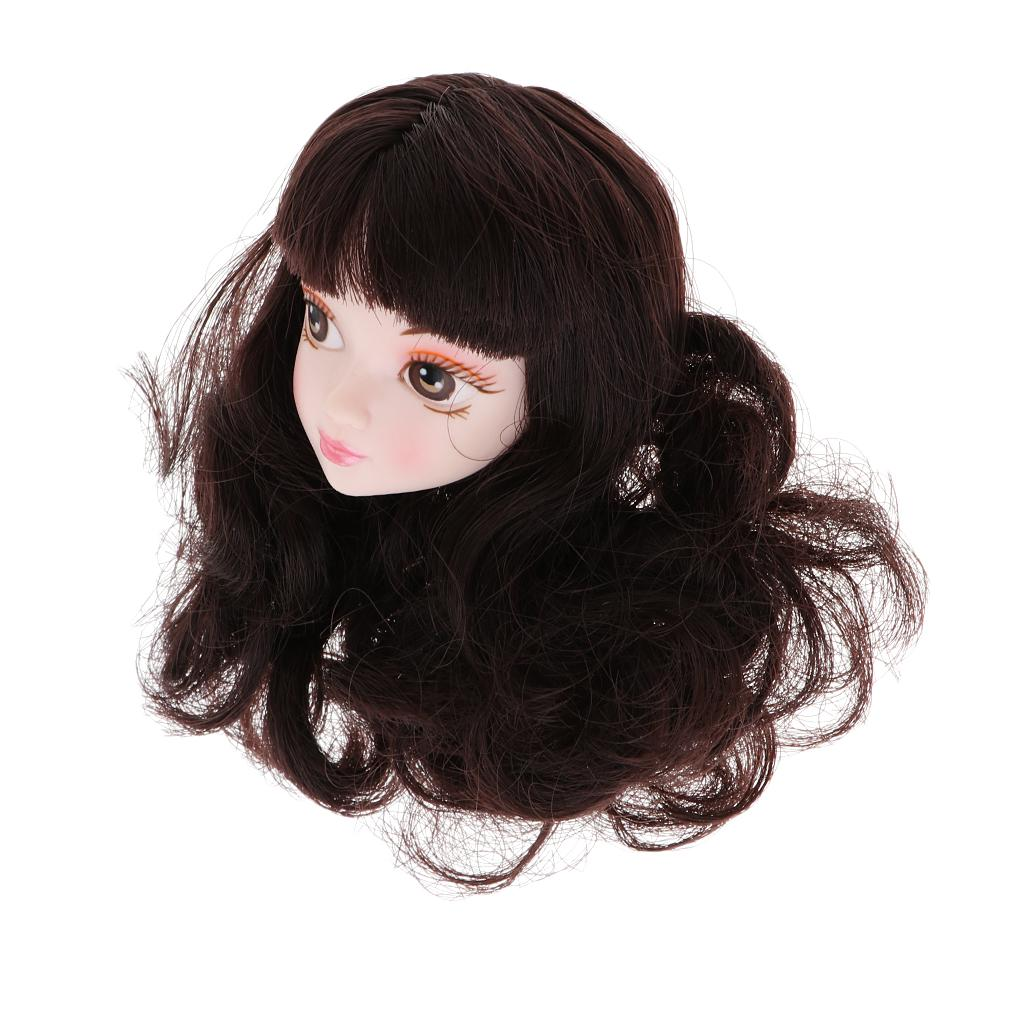 1//3 BJD Lovely Short Curly Wig Hair with Bang for Blythe Doll DIY Accessory