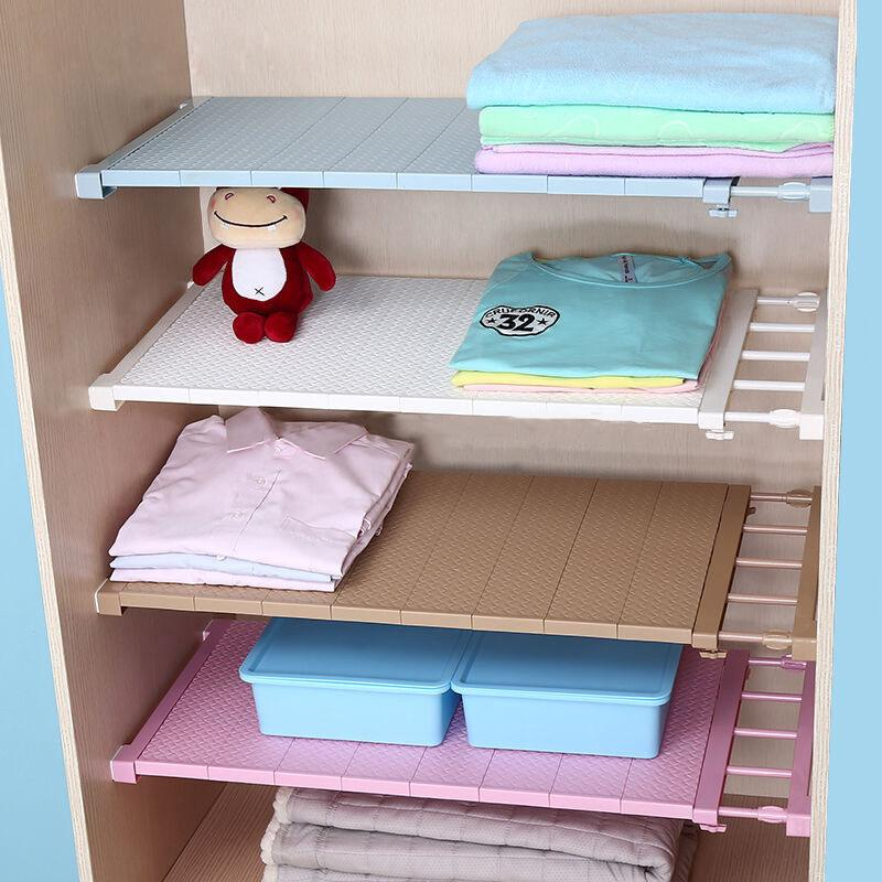 Storage Shelf Wall Mounted Kitchen Rack, Adjustable Storage Shelves