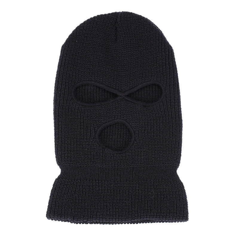 Apparel Accessories Klv Acrylic Warm Black Fleece Neck Cold Winter Ski Full Face Mask Cover Hat Cap Full Face And Neck Coverage Design High Quality And Inexpensive Men's Hats