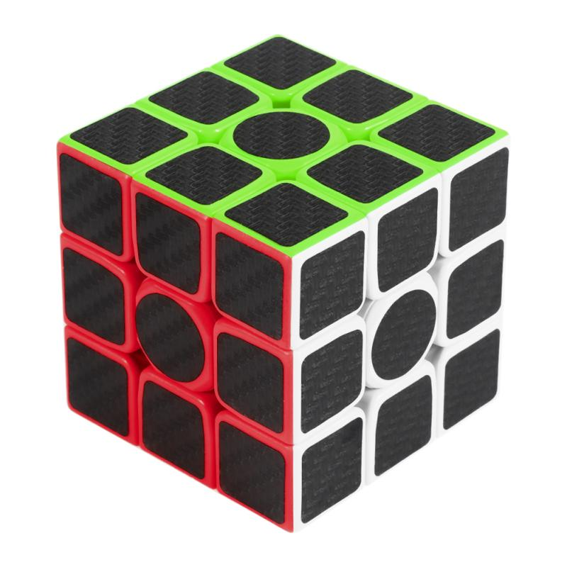 ZCUBE Magic Cube Speed Cube 3x3x3 Smooth Magic Carbon Fiber Sticker Rubix Speed