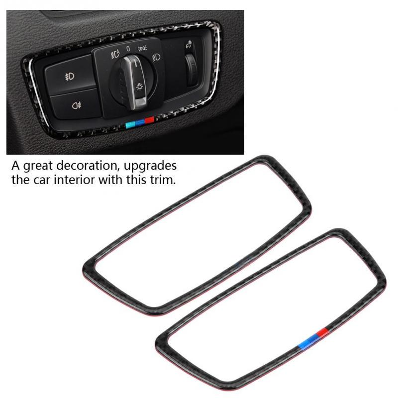Carbon fiber style Interior Rearview mirror cover trim For BMW X1 F48 2016-2018
