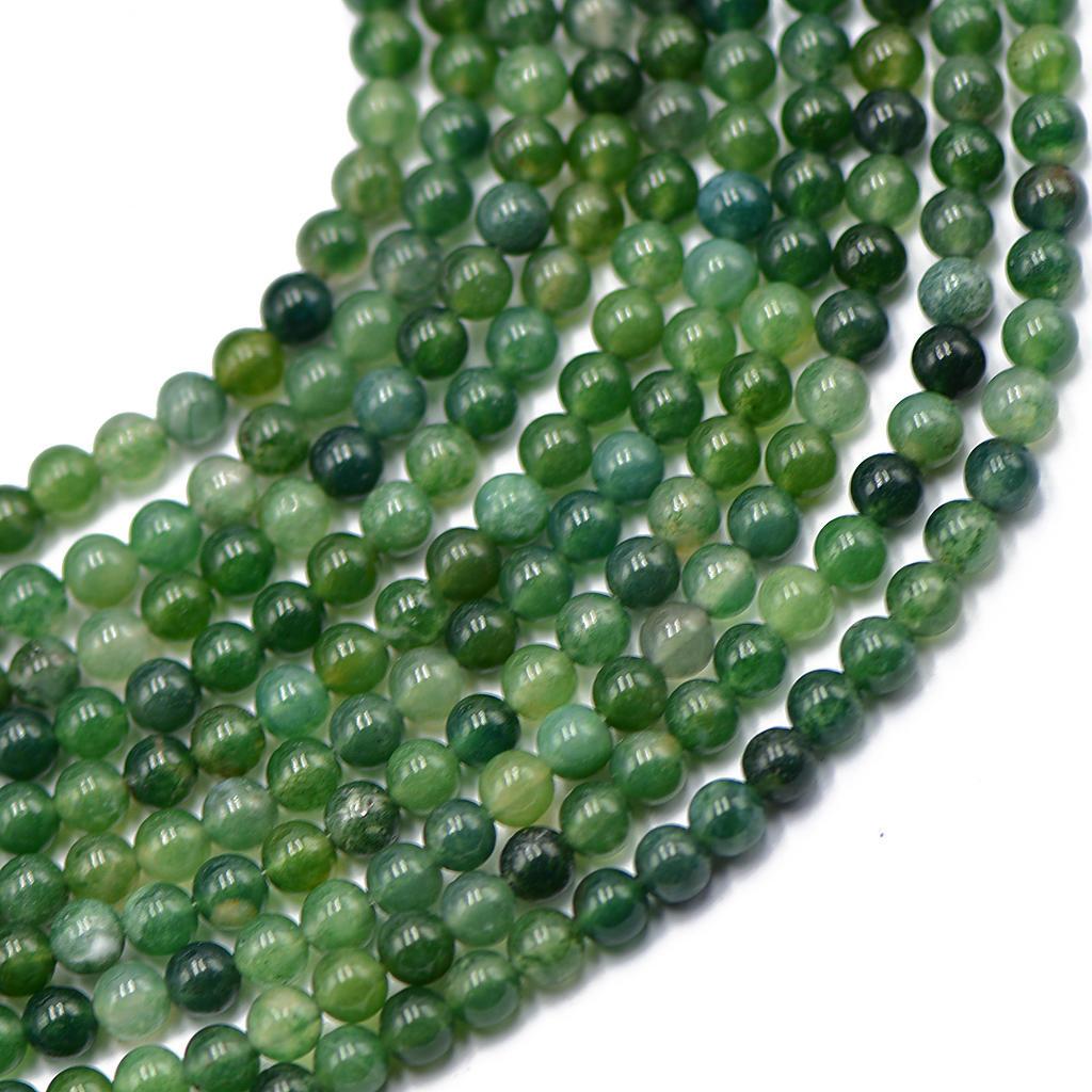 """6mm brasileño Ágata Piedras Preciosas Perlas Verde Oliva Longitud de 7/"""""""