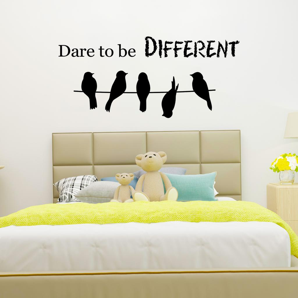 Wall Stickers Little Birds Tree Branch Background Room Bedroom Home Decoration