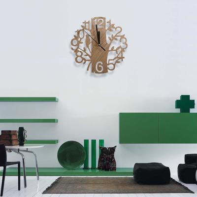 IAU-Vintage Design Wall Clock Fashion Style Home Living Room Clock Square Shape