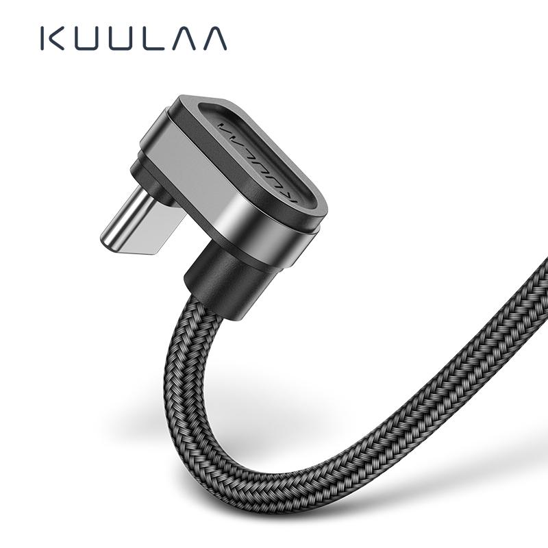 KUULAA USB Тип C Кабель Usb Тип-c Игровые кабели для Xiaomi Oneplus LG Nexus 5x Huawei Samsung Apple Letv Металлический Нейлон Тип C Провод 2м фото